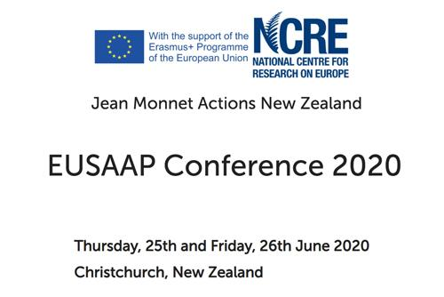 The EU Centre would like to bring your attention to the call for papers for the annual conference and postgraduate student workshop organised by the National Centre for Research on Europe, University of Canterbury. Click on the link to read more.